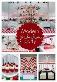 modern red chevron graduation party red chevron and birthdays