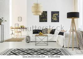 bright room white sofa table pattern stock photo 575914609
