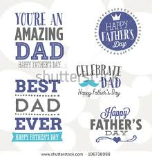 happy fathers day vector set youre stock vector 196738088