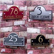 Home Decor Signs And Plaques Personalised House Sign Door Number Street Address Plaque Modern