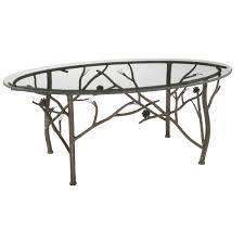 White Wrought Iron Patio Furniture Paul Kingma Style Wrought Iron And Slate Round Coffee Round Stone