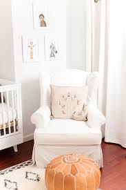 home makeover a safari chic nursery nursery pouf ottoman and
