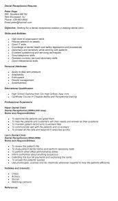 front desk resume sle dental receptionist resume ivedi preceptiv co