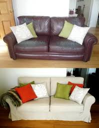 Leather Couches Furniture Slipcover Leather Couch Slipcover Couch How To