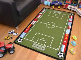 Football Field Rug For Kids Kids Non Slip Machine Washable Football Pitch Play Mat Available