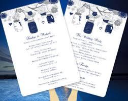 How To Make Wedding Fan Programs Fan Wedding Program Etsy