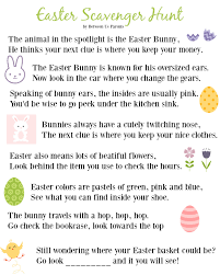 easter scavenger hunt printable easter scavenger hunt clues 2016 edition between us