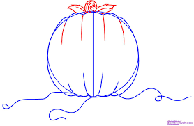how to draw a pumpkin step by step halloween seasonal free