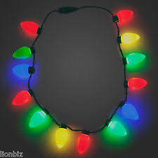christmas light necklace gloworks christmas bulb necklace plastic3 different