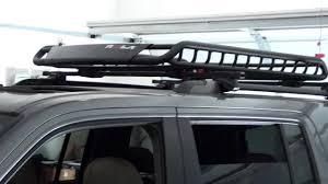 nissan frontier yakima roof rack rola roof basket youtube