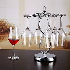 8 type stainless steel tabletop wine glass drying rack stemware