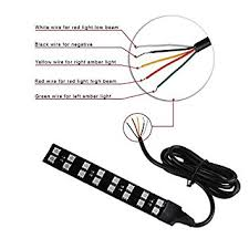 Light Bar For Motorcycle Amazon Com Rear Integrated 5050led Turn Signal U0026 Brake Light Bar