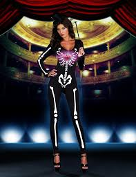 Womens Skeleton Costume Womens Skeleton Costume Ghost Diva By Dreamgirl