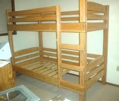 Wood Bunk Bed Plans Simple Bunk Beds Startcourse Me