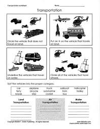means of transport worksheet for class 2 english teaching