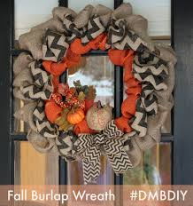 dallas moms blog diy burlap fall wreath wreaths pinterest