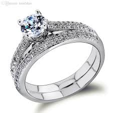 bridal fashion rings images Wholesale bridal wedding rings set 18k gold ring white gold plate jpg