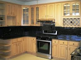 cheap kitchen cabinets and countertops kitchen cheap natural wood kitchen cabinet with black granite