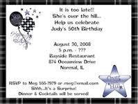 30th birthday invitations 40th birthday invitations 50th