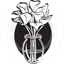 cartoon lilies in vase vector illustration by clip art guy toon