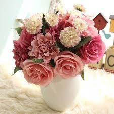 fleur artificielle mariage artifical silk flower wedding bouquet office decoration home