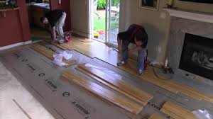Laminate Flooring Glue Down Nail Down Installation Strand Woven Bamboo Youtube