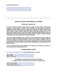 Free Form Power Of Attorney by Idaho Durable Financial Power Of Attorney Form Power Of Attorney