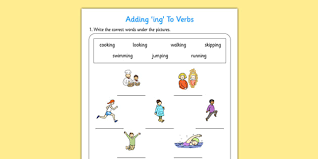 ing to verbs activity adding verbs activity ing