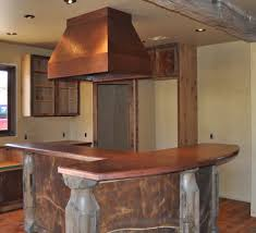 Stove On Kitchen Island Glamorous Kitchen Island Stove Hoods With Antique Copper