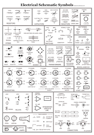 list of electrical symbol schematic diagram in drawing chart