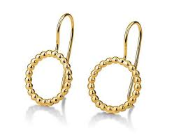 14 karat gold earrings gold earrings circle hanging earrings 14 karat gold