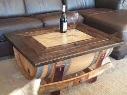 How To Make Wine Crate Coffee Table - coffee table wine crateffee table barrel furniture livingroom