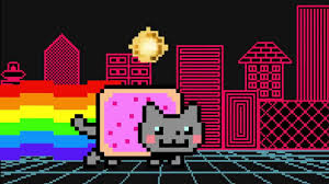Nyan Cat Know Your Meme - zoom a trippy nyan cat animated music video by alvin risk and