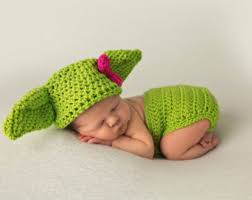 Newborn Infant Halloween Costumes Yoda Costume Etsy