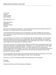 sample cover letter for executive director 11192