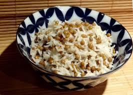 riz cuisine riz aux lentilles et au miel la tendresse en cuisine