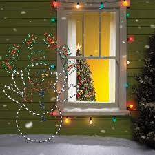 Lighted Christmas Window Decorations by Christmas Decorations Christmas Lighted Figures Christmas