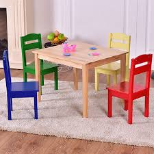 american kids 5 piece wood table and chair set american kids 5 piece wood table and chair set multiple colors