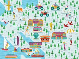 Map Montreal Canada by We Illustrated A Series Of Maps For The Guardian And Destination