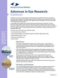 Preventing Blindness Rpb Publications Research To Prevent Blindness