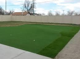 turf grass blanca colorado golf green backyard makeover