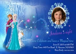 Personalised Birthday Invitation Cards Diy Print Frozen Invitations Frozen Birthday Invites Elsa