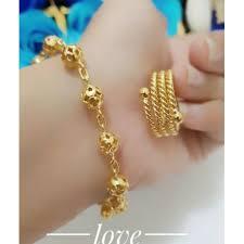 cincin lapis emas perhiasan gelang cincin warna gold kualitas tinggi limatoko