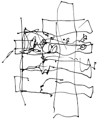 photos this amazing crumpled bag frank gehry building has just frank gehry s initial sketch for the dr chau chak wing building image courtesy of gehry partners llp