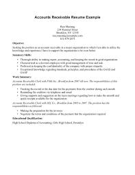 dance resume objective accounts receivable resume objective examples resume for your accounts receivable coordinator sample resume unix programmer