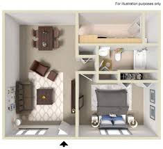 One Bedroom Apartments Tampa Fl by Spacious Floor Plans Live Oak Apartments