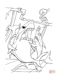 bruce eat dory coloring free printable coloring pages
