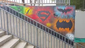 super hero stencil mural on behance