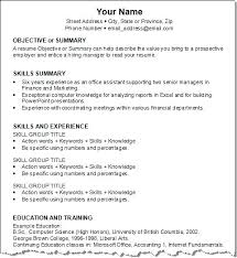 exle of resume for exle resumes for exles of work resumes resume for