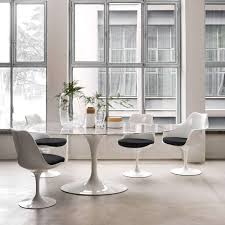 Dining Room Arm Chair Tulip Armchair With Seat Cushion By Knoll Yliving